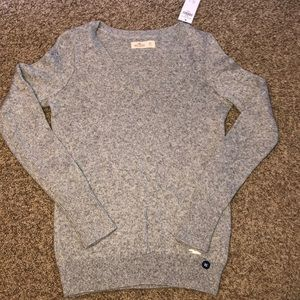 Hollister Grey v-neck sweater